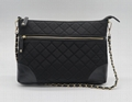 Quilted waterproof beauty women shoulder handbag with inner small clutch pouch