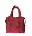 Nylon camouflage women's sports shoulder bag with hardware clip