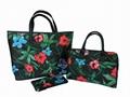 Matt PVC coated polyester lady summer beach bag with full prints
