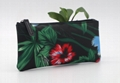 Full prints polyester matt PVC coated waterproof ladies purse