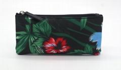 Full prints polyester matt PVC coated waterproof ladies purse