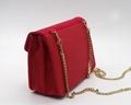 Cross pattern PU beauty ladies handbag with long detachable strap