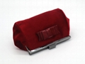 Fake fur beauty lady kiss lock clutch bag with bow on front