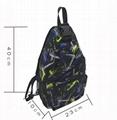 2019 latest Polyester men's cross body sling bag dark green colour