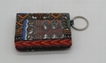 Ankara quilted cotton fashion foldable cardholder with metal ring