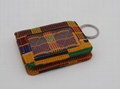 Ankara cotton quilted stylish women card holder with metal ring