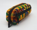 Ankara printed cotton with diamond quilted stylish pencil pouch