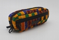 Ankara printed cotton with diamond quilted stylish pencil pouch 4