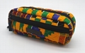 Ankara printed cotton with diamond quilted stylish pencil pouch 5