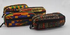 Designed ankara printed cotton stylish pencil pouch bag