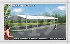 自行車棚膜結構-厚朴專業製作
