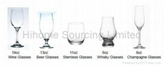 Wine Glass/ Beer Glass /Stemless Glass /Whisky Glass /Champagne Glass