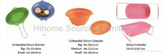 Collapsible silicon strainer/ colander