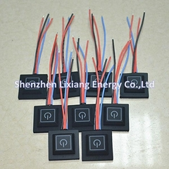 LED switch controller for heated clothing