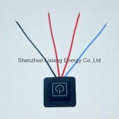 LED switch controller for heated jacket 3.3v~16.8v