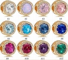 Wholesale Fashion Diy Bracelet Cymophane Charms Si  er 925