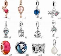 Summer Series 925 Sterling Si  er Charms For Bracelets Necklace