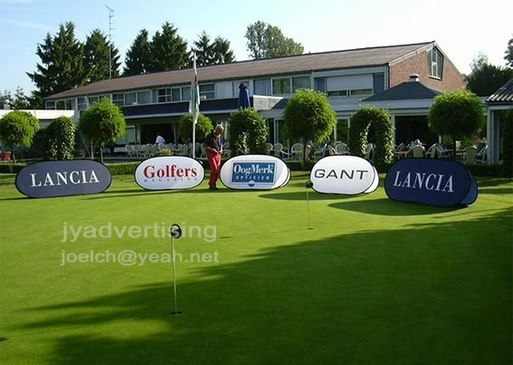 5pcs, Custom Print Spring A Frame Banner, Golf popup Banner (free shipping) 1