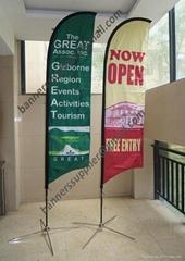 2pcs, Sail Flags, Feather Flag, Custom Print Blade Beach Flag (free shipping)
