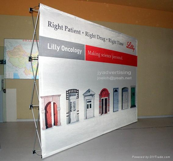 Stretch Fabric Exhibition Stands : Stretch fabric pop up display backdrop ft straight