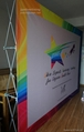 Stretch Fabric POP up Display Backdrop, 10ft Straight Booth (free shipping) 3
