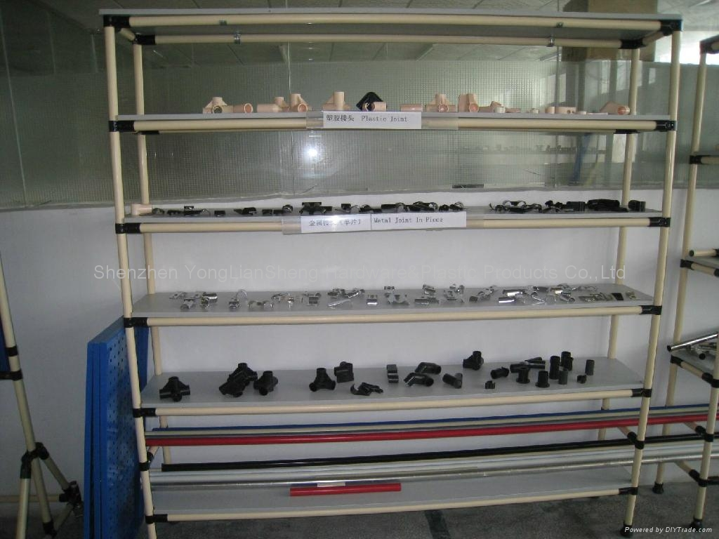 Complete metal joint for p j storage rack stainless steel