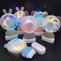 USB迷你風扇小夜燈