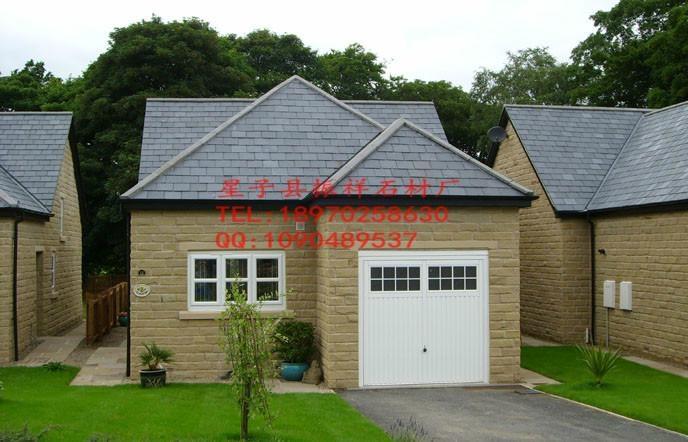 供應黑色瓦板石青石板瓦片屋頂裝飾天然文化石 1