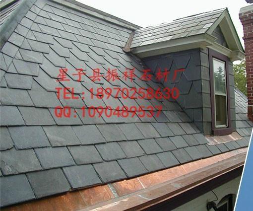 供應黑色瓦板石青石板瓦片屋頂裝飾天然文化石 4
