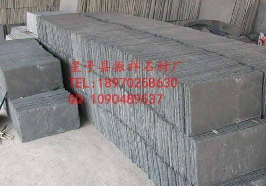 供應黑色瓦板石青石板瓦片屋頂裝飾天然文化石 5
