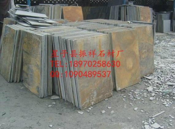 厂家直销天然锈色青石板绣石板文化石锈色地砖 5