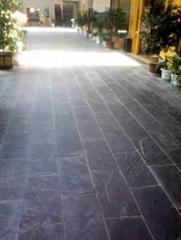 纯天然青灰色板岩地板