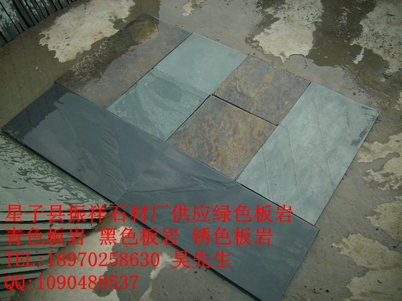 长期供应青石板绿板天然文化石防滑地砖绿色地砖 2