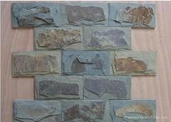 長期供應天然蘑菇石黑鏽色外牆磚文化石背景牆