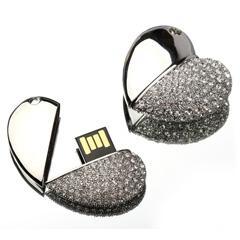 心型水晶USB手指 1