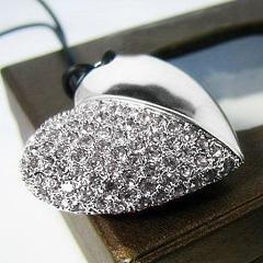 心型水晶USB手指 3