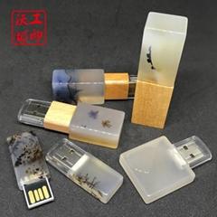 天然玉石USB手指,珠寶瑪瑙石USB