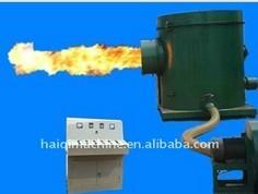 biomass drying burner for greenhouse heating