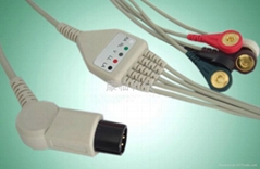 One-piece ECG 5-L cable