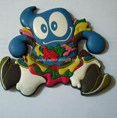 PVC-Fridge magnet  with Cartoon Fridge m