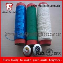 Nylon polyester ptfe teflon dental floss thread yarn for dental floss produce