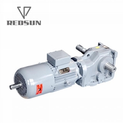 K series helical bevel right angle gear reducer