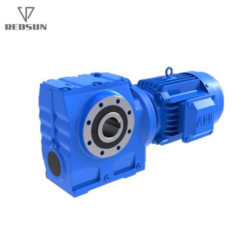 REDSUN SA series helical worm gear reducer with AC motor 4