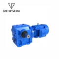REDSUN SA series helical worm gear reducer with AC motor