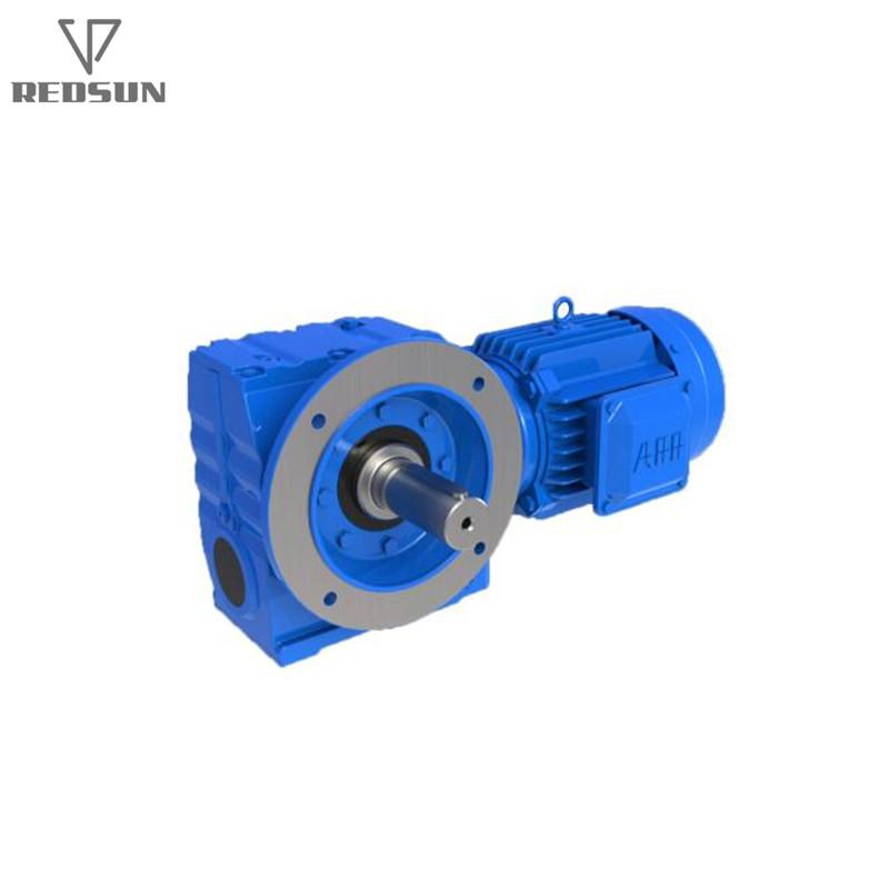 REDSUN SA series helical worm gear reducer with AC motor 6