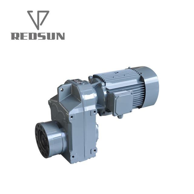 F Series shaft mounted helical plastic single screw extruder gearbox 1