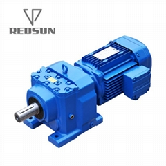 R series foot-mounted helical solid shaft gearbox