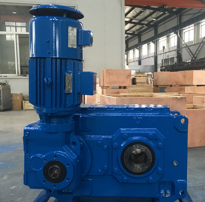 B Series Helical Hollow Shaft Gearbox With Motor 3