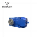 Output Flange Helical Bevel Gearbox