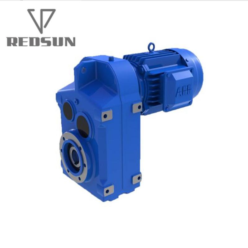 F Series shaft mounted helical plastic single screw extruder gearbox 2